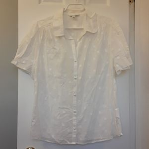 Banana Republic white blouse XL